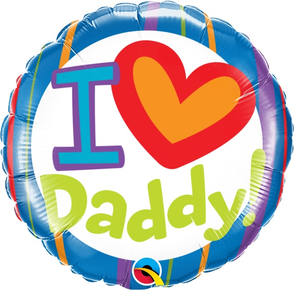 I Heart Daddy Balloons