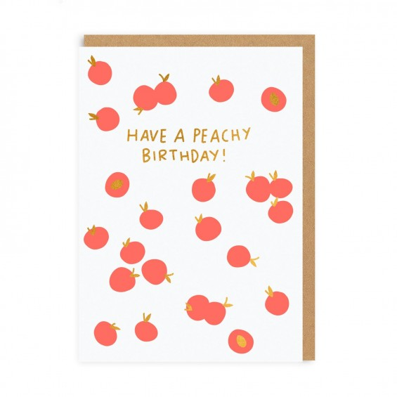 Peachy Birthday Greeting Card