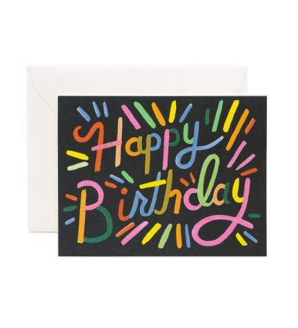 Fireworks Birthday Greeting Card