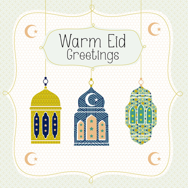 Warm Eid Greetings Greeting Card