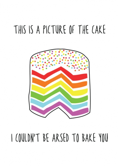 Rainbow Cake Greeting Card