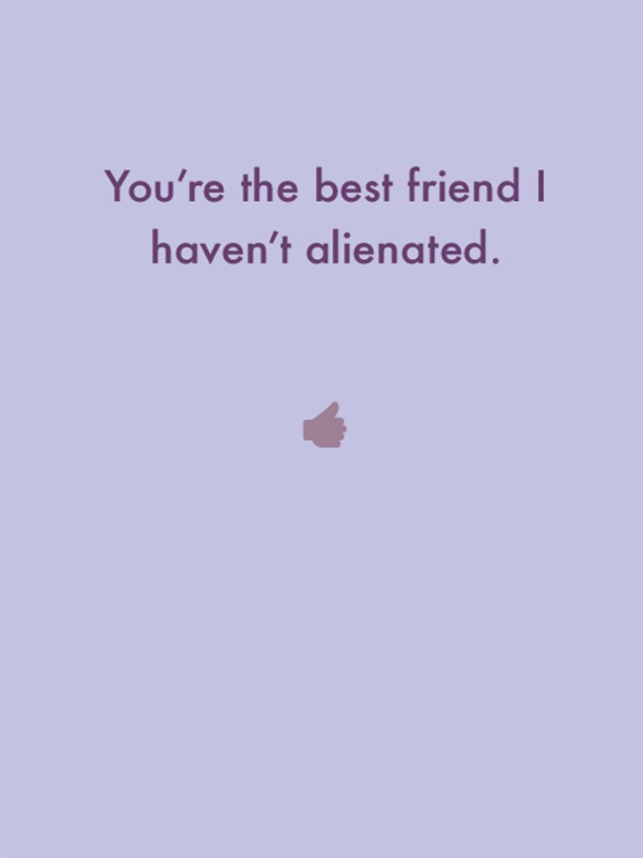 Alienated Friend Greeting Card