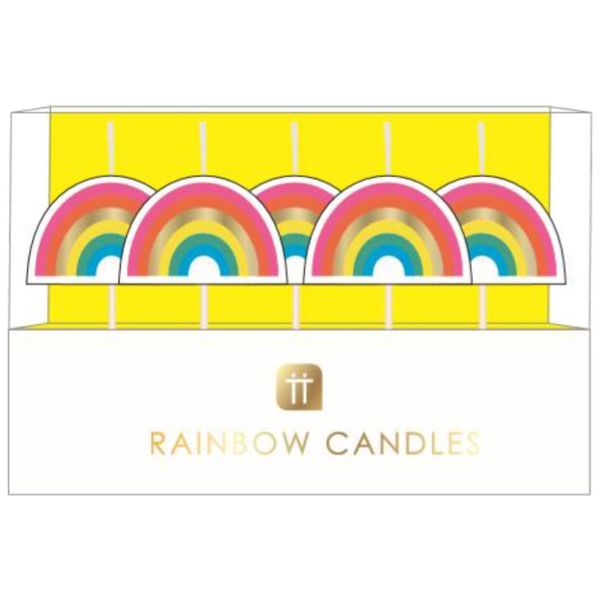 Rainbow Shaped Candles Candles