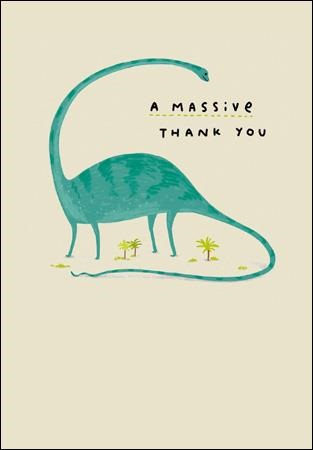 TY Dinosaur Greeting Card