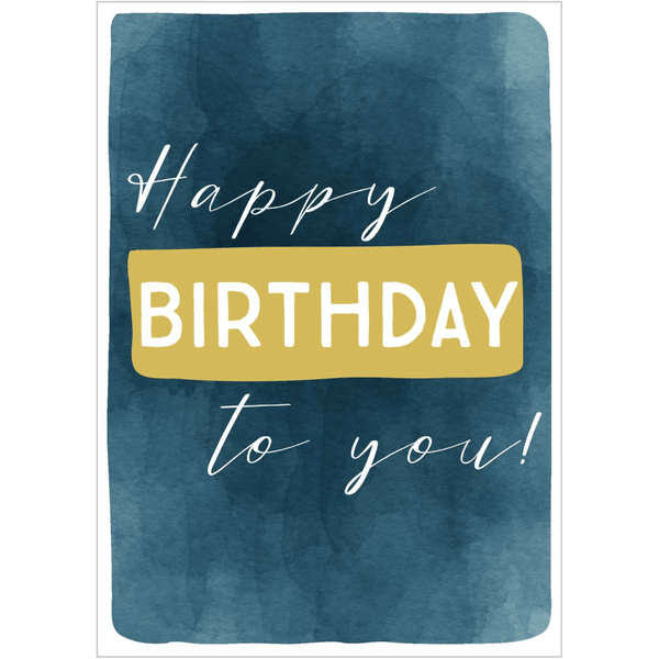 HBTY Blue Brush Strokes Greeting Card