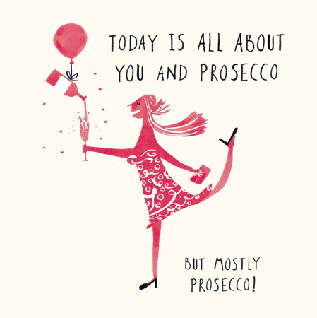 You & Prosecco Greeting Card