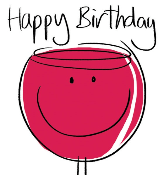 Happy Birthday Red Wine Greeting Card