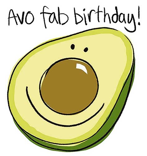 Avo Fab Birthday Greeting Card