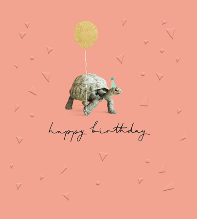 Happy Birthday Tortoise Greeting Card
