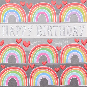 Happy Birthday Rainbows Greeting Card