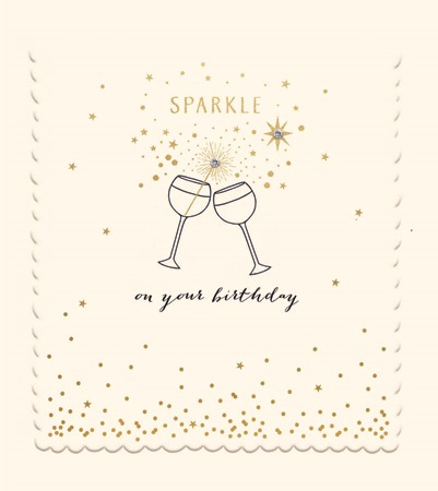 Happy Birthday Sparkle Greeting Card