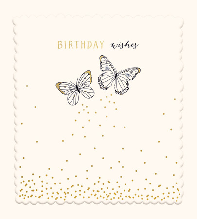 Birthday Wishes Butterflies Greeting Card