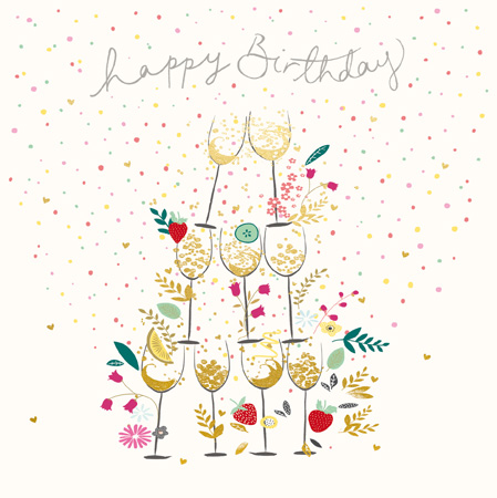 Bubbly Tower Greeting Card
