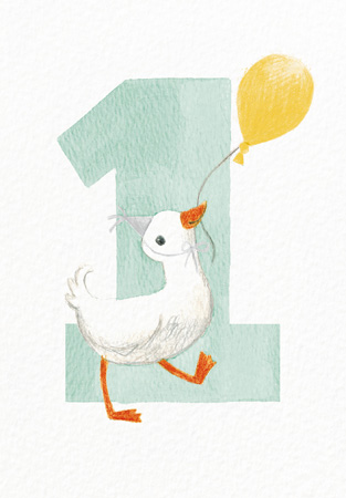 1 Duck Greeting Card
