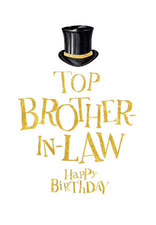 Happy Birthday Top BIL Greeting Card