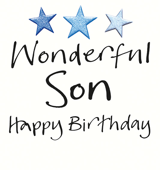 Happy Birthday Wonderful Son Greeting Card