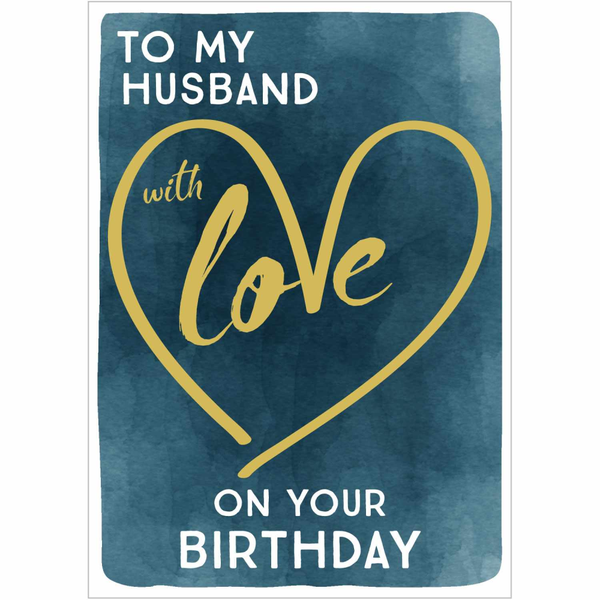 Husband Love On Birthday Greeting Card