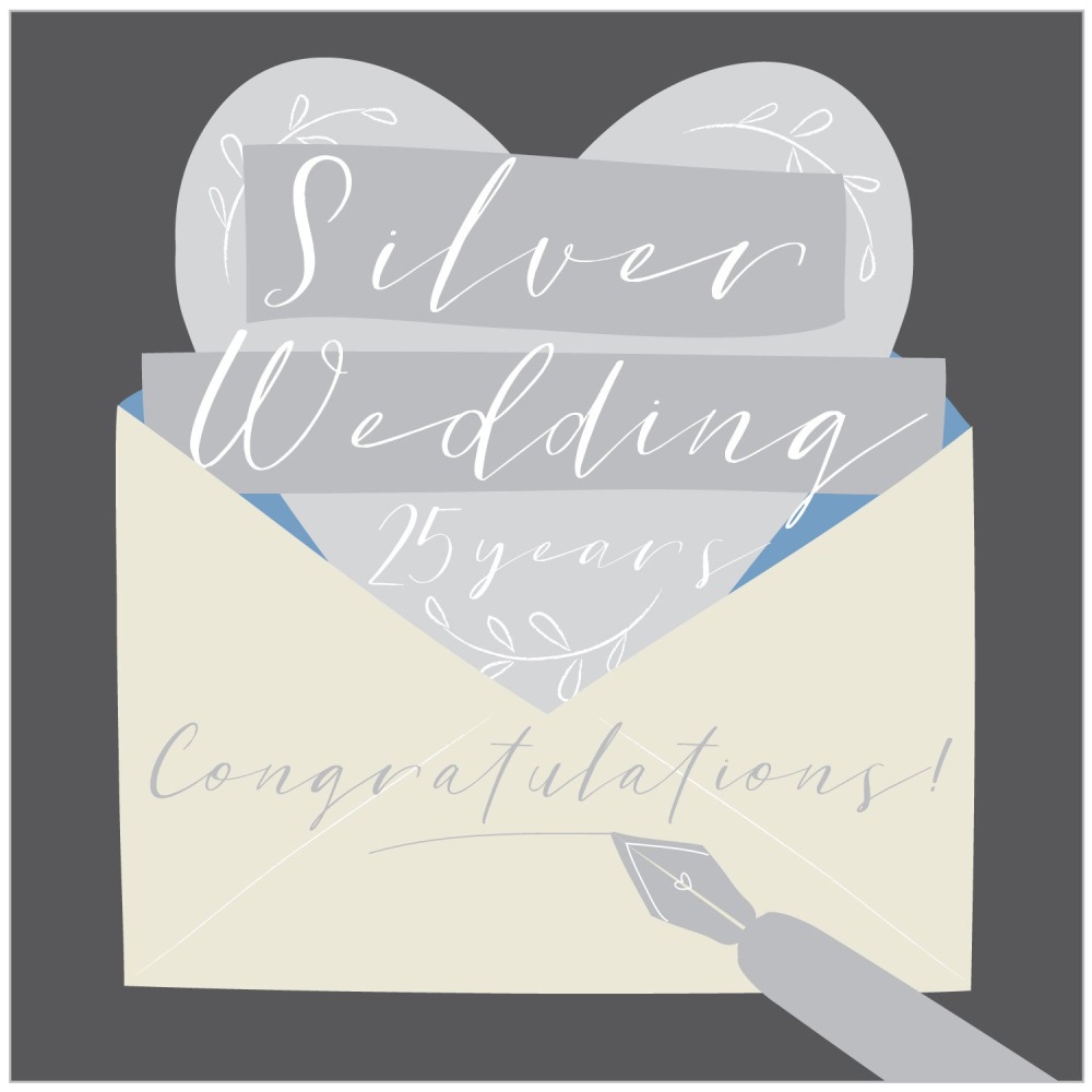 Silver Wedding Greeting Card
