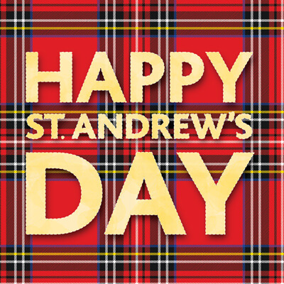 St Andrews Day Gold Greeting Card