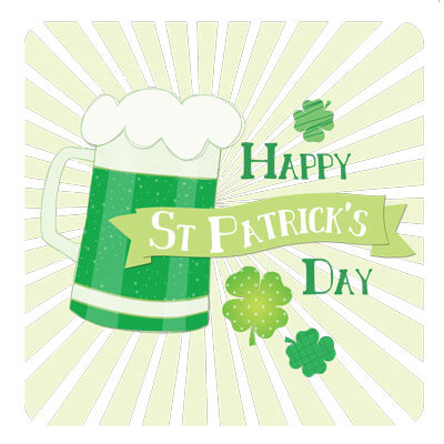 St Patricks Pint Greeting Card