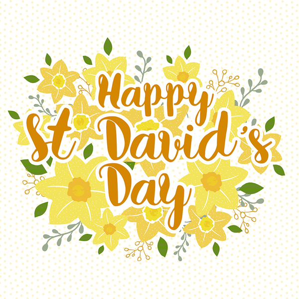 St DaviDay Greeting Card