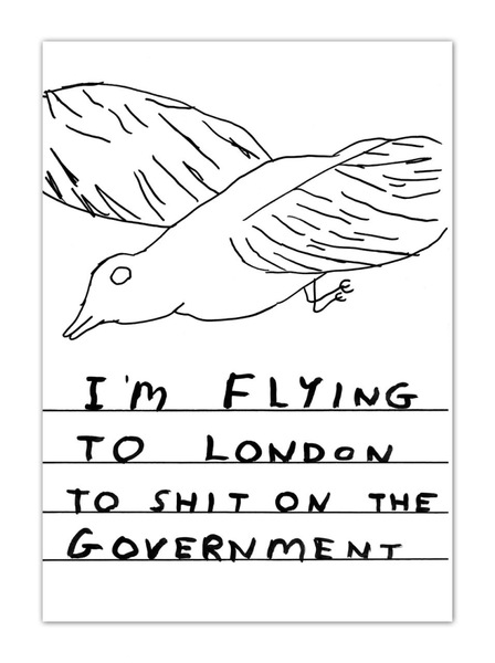 Shit On Government Postcard Greeting Card