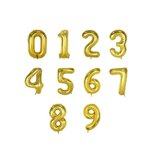"Small 16"" Numbers Balloons"