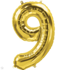 "Large 34"" Foil Numbers Balloons"