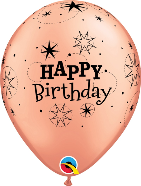 "Birthday Sparkle 11"" Latex Balloons 6 Pk Balloons"