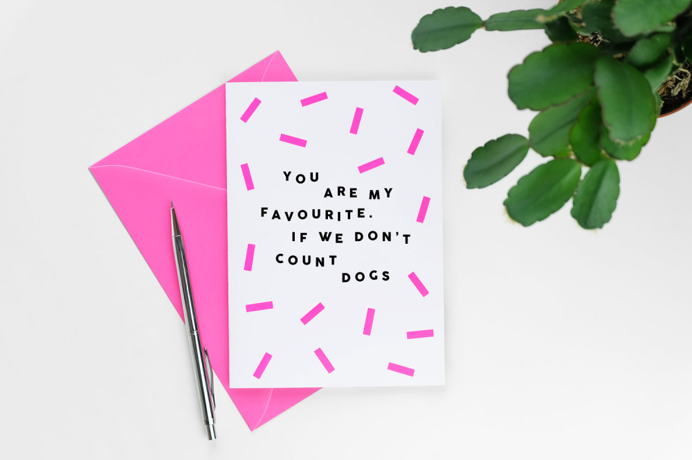 Dont Count Dogs Greeting Card