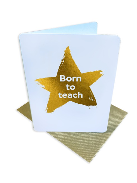 Born To Teach Greeting Card