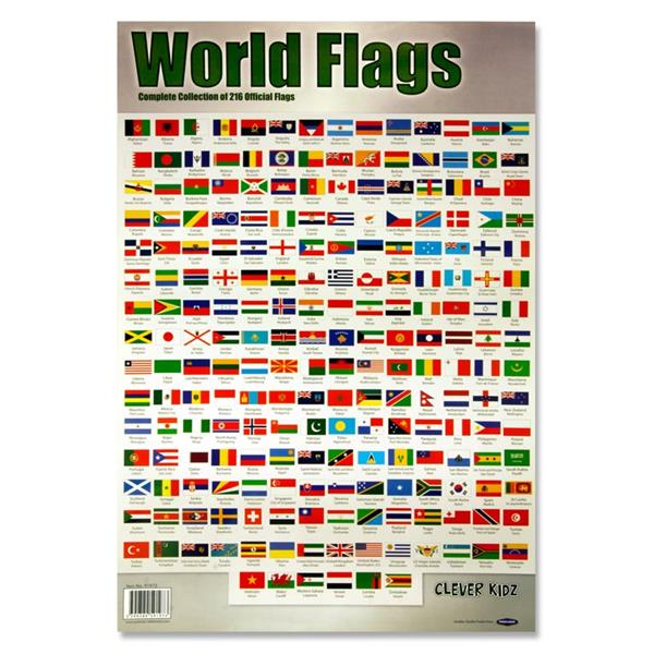 World Flags Wall Chart