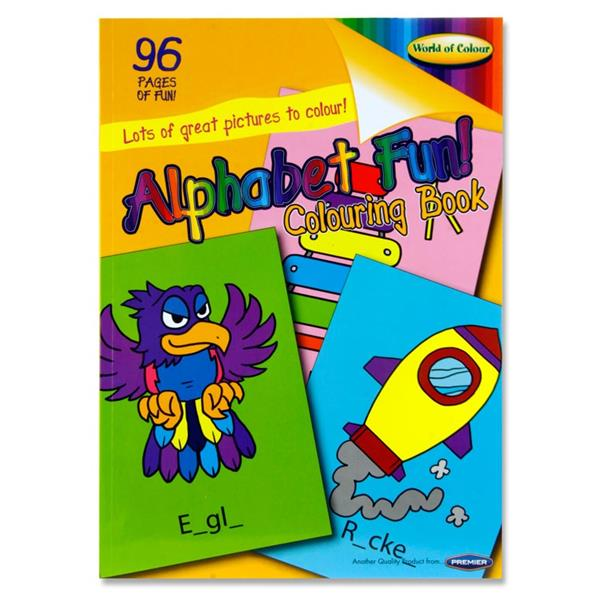 A4 Alphabet Fun Colouring Book