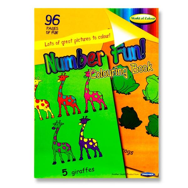 A4 Number Fun Colouring Book