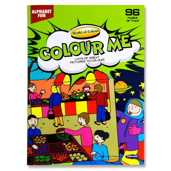A4 Colour Me Colouring Book