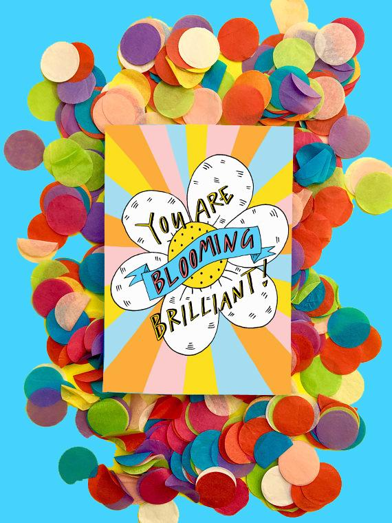 Blooming Brilliant Greeting Card