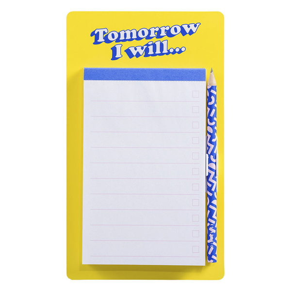 Tomorrow I Will Magnetic Notepad