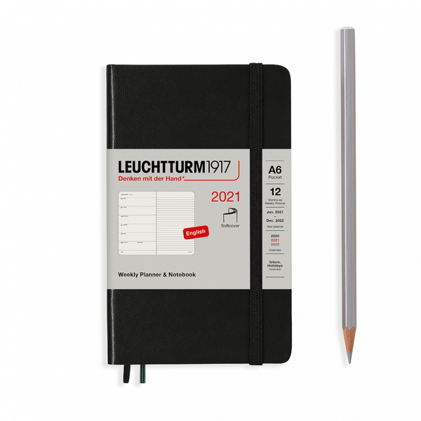 Leuchtturm1917 Weekly Planner & Notebook Pocket A6 2021 Softcover