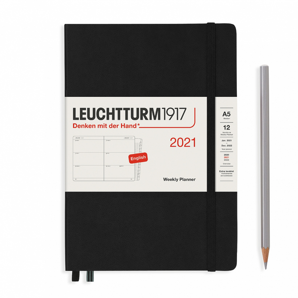 Leuchtturm1917 Weekly Planner Medium A5 2021 With Booklet Hardcover