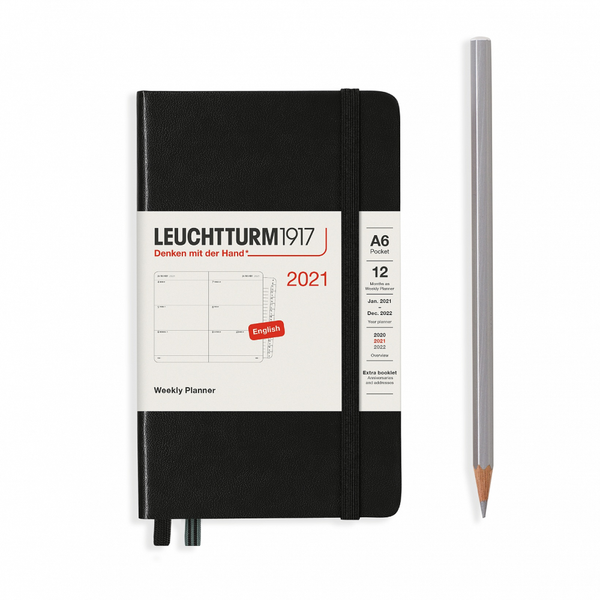 Leuchtturm1917 Weekly Planner Pocket A6 2021 With Booklet Hardcover
