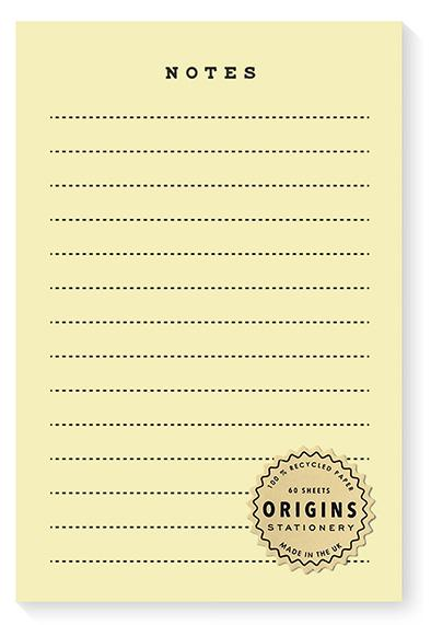 ORIGINS Notepad