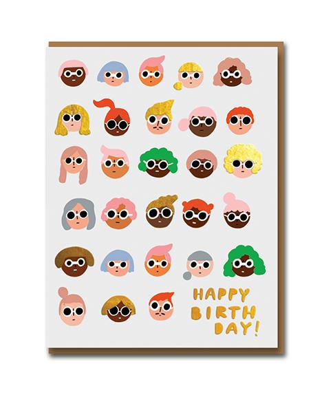 1973CS Happy Birthday Sunny Looks Greeting Card