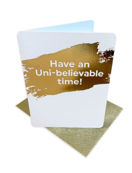 Uni-believable Good Luck Card Greeting Card