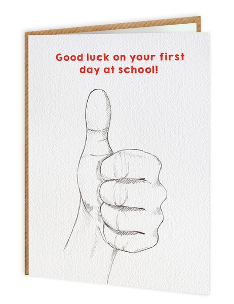 Good Luck First Day Of School Greeting Card