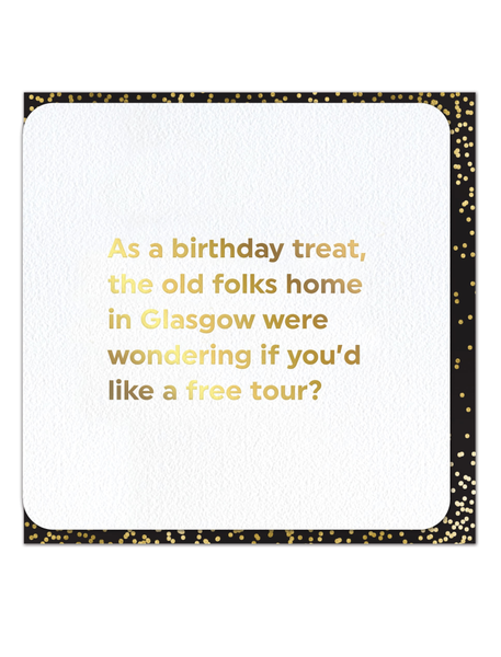 Old Folks Home Glasgow Greeting Card