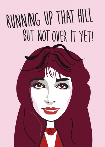 Happy Birthday Kate Bush Greeting Card