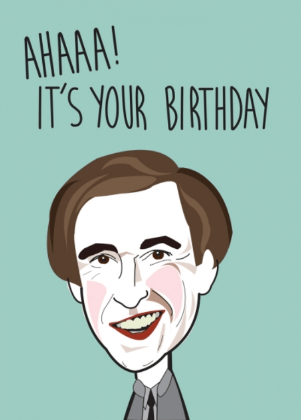 Happy Birthday Alan Partridge Greeting Card