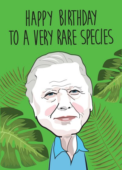 Happy Birthday David Attenborough Greeting Card