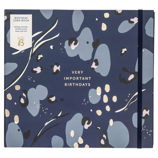 Navy Very Important Birthdays Card Book