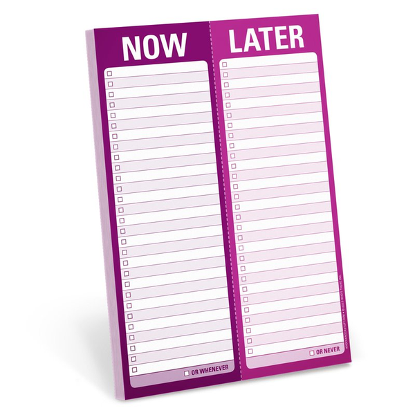 Now Later Perforated Notepad